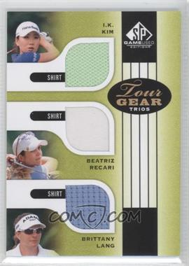 2012 SP Game Used Edition Tour Gear Trios Green Shirts #TG3 KRL - I.K. Kim, Beatriz Recari, Brittany Lang
