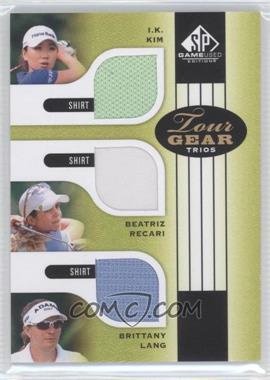2012 SP Game Used Edition Tour Gear Trios #TG3 KRL - I.K. Kim, Beatriz Recari, Brittany Lang