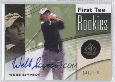 2012 SP Game Used Edition #33 - Webb Simpson