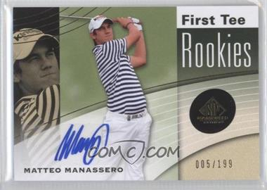 2012 SP Game Used Edition #34 - Matteo Manassero /199