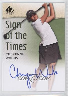 2014 SP Authentic - Sign of the Times #SOTT-CW - Cheyenne Woods