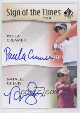 2014 SP Authentic Sign of the Times Two #ST2-GC - Paula Creamer, Natalie Gulbis