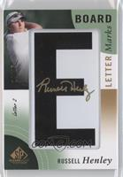Russell Henley (Letter 5 - E) /15