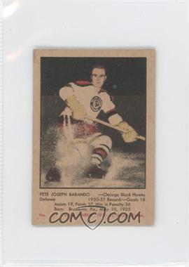 1951-52 Parkhurst #51 - Pete Babando