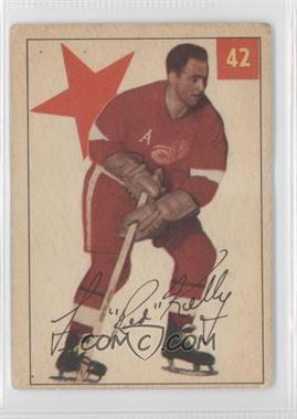 1954-55 Parkhurst - [Base] #42 - Red Kelly [Good to VG‑EX]