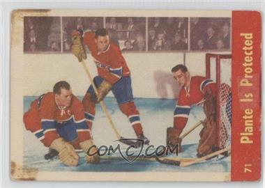 1955-56 Parkhurst #71 - Jacques Plante [Poor to Fair]