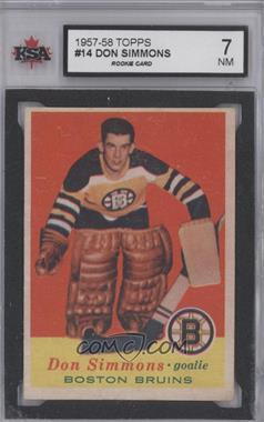 1957-58 Topps - [Base] #14 - Don Simmons [KSA7]