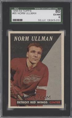 1958-59 Topps - [Base] #65 - Norm Ullman [SGC80]