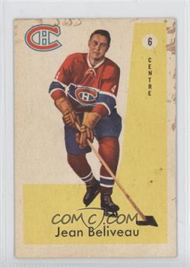 1959-60 Parkhurst - [Base] #6 - Jean Beliveau [Good to VG‑EX]