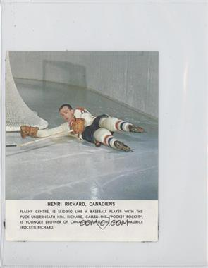 1964-65 Toronto Star NHL Photos #HERI - Henri Richard