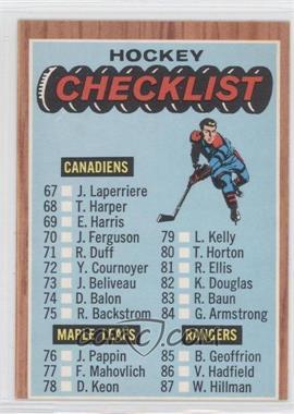 1966-67 Topps #120 - Checklist