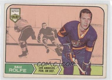 1968-69 O-Pee-Chee - [Base] #41 - Dale Rolfe [Good to VG‑EX]