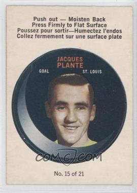 1968-69 O-Pee-Chee Puck Stickers #15 - Jacques Plante