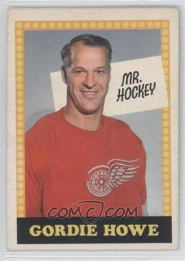 1969-70 O-Pee-Chee #NoN - Gordie Howe (No Card Number)