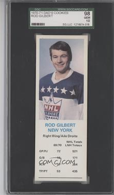 1970-71 Dad's Cookies #ROGI - Rod Gilbert [SGC 98]