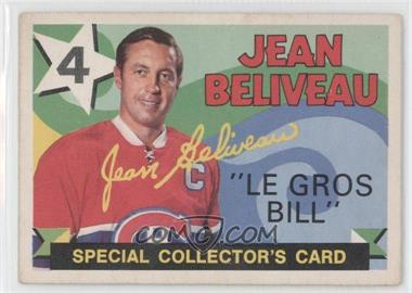 1971-72 O-Pee-Chee - [Base] #263 - Jean Beliveau [Good to VG‑EX]