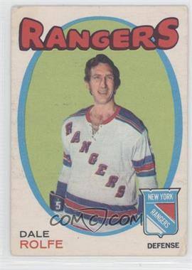 1971-72 O-Pee-Chee #219 - Dale Rolfe [Good to VG‑EX]