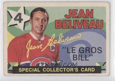 1971-72 O-Pee-Chee #263 - Jean Beliveau [Good to VG‑EX]