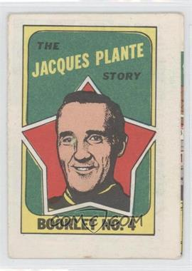 1971-72 Topps Booklet #4 - Jacques Plante
