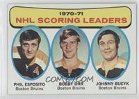 Phil Esposito, John Bucyk, Bobby Orr