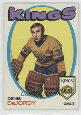 1971-72 Topps #63 - Denis DeJordy [Good to VG‑EX]