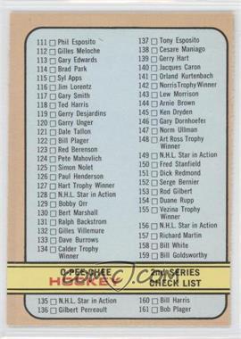1972-73 O-Pee-Chee - [Base] #19 - 2nd Series Checklist