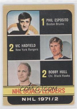 1972-73 O-Pee-Chee - [Base] #272 - Phil Esposito, Vic Hadfield, Bobby Hull [GoodtoVG‑EX]