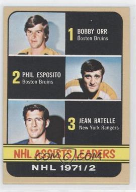 1972-73 Topps #62 - Phil Esposito, Jean Ratelle, Bobby Orr