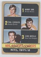 Phil Esposito, Jean Ratelle [Good to VG‑EX]