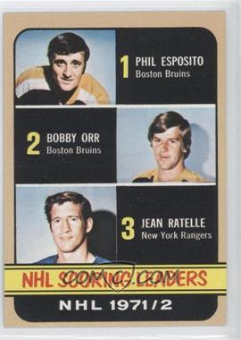 1972-73 Topps #63 - Phil Esposito, Jean Ratelle, Bobby Orr