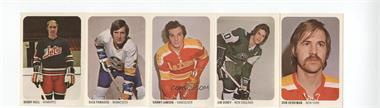 1973-74 Quaker Oats WHA Intact Strips #46-50 - Don Herriman, Jim Dorey, Danny Lawson, Dick Paradise, Bobby Hull