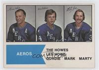 Gordie Howe, Mark Howe, Marty Howe [GoodtoVG‑EX]