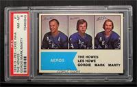 Gordie Howe, Mark Howe, Marty Howe [PSA8]