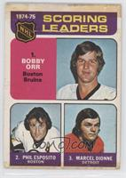 Phil Esposito, Marcel Dionne, Bobby Orr [Poor to Fair]