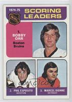 Phil Esposito, Marcel Dionne, Bobby Orr