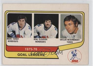 1976-77 O-Pee-Chee WHA #1 - Marc Tardif, Real Cloutier, Vaclav Nedomansky