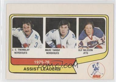 1976-77 O-Pee-Chee WHA #2 - J.C. Tremblay, Marc Tardif, Ulf Nilsson