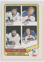 Marc Tardif, Bobby Hull, Real Cloutier, Ulf Nilsson