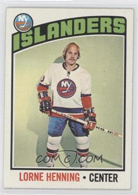 1976-77 Topps - [Base] #193 - Lorne Henning