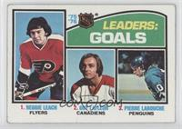 Leaders: Goals (Reggie Leach, Guy Lafleur, Pierre Larouche) [Poor to …