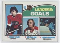 Leaders: Goals (Reggie Leach, Guy Lafleur, Pierre Larouche)