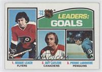 Leaders: Goals (Reggie Leach, Guy Lafleur, Pierre Larouche) [Good to …