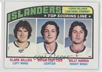 New York Islanders Team, Clark Gillies, Bryan Trottier, Billy Harris