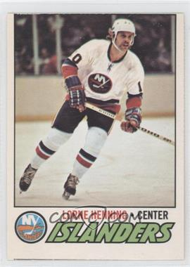 1977-78 O-Pee-Chee #219 - Lorne Henning [Good to VG‑EX]