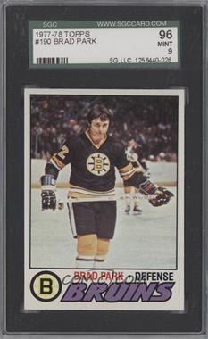 1977-78 Topps #190 - Brad Park [SGC96]