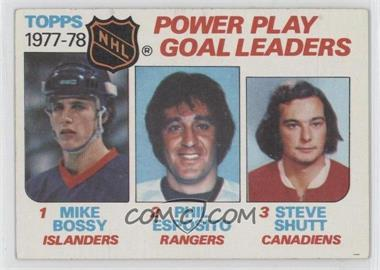 1978-79 Topps - [Base] #67 - Power Play Goal Leaders (Mike Bossy, Phil Esposito, Steve Shutt)