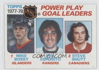 1978-79 Topps #67 - Power Play Goal Leaders (Mike Bossy, Phil Esposito, Steve Shutt)
