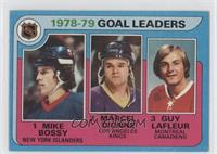 Goal Leaders (Mike Bossy, Marcel Dionne, Guy Lafleur)