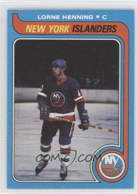 1979-80 Topps #193 - Lorne Henning