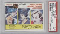 NHL Assist Leaders (Wayne Gretzky, Marcel Dionne, Guy Lafleur) [PSA7]
